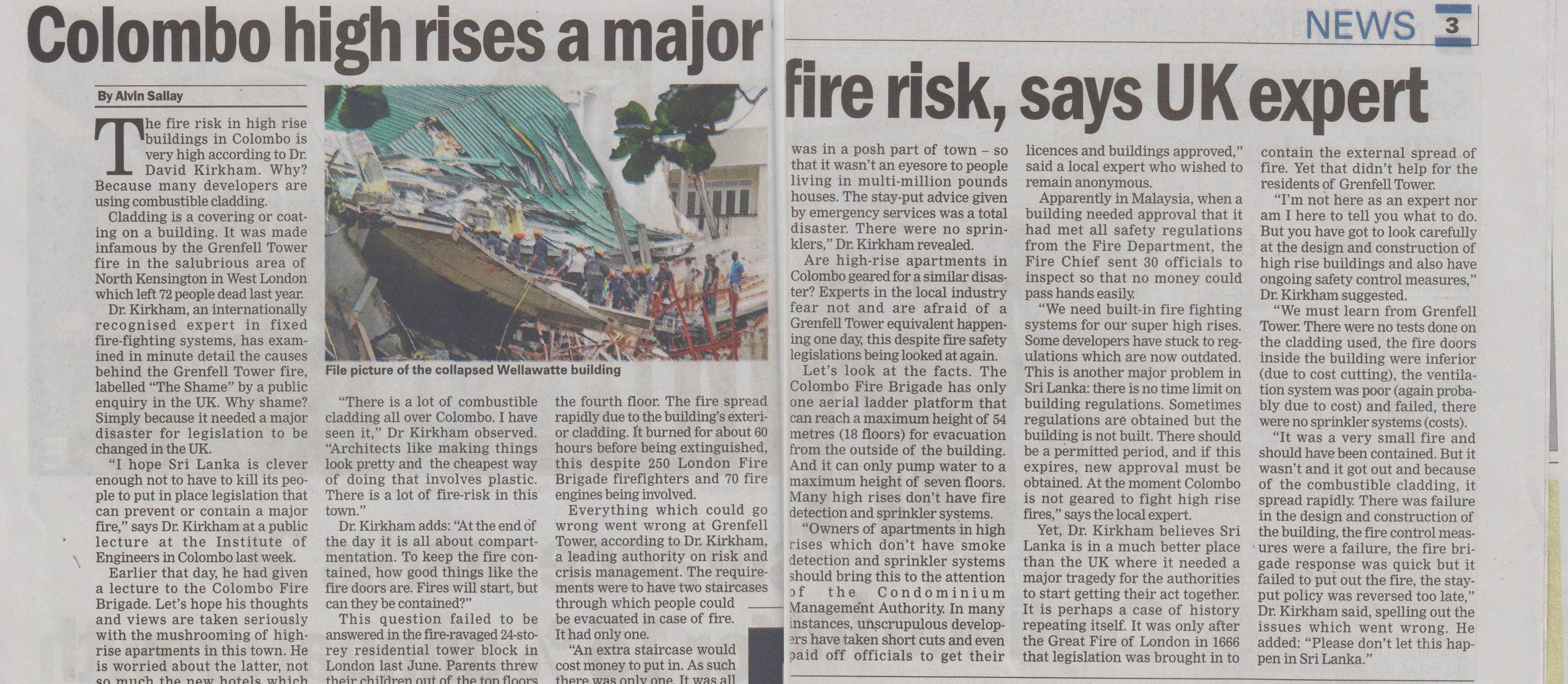 Fire Risk in high rise buildings